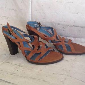 Biala Brown Heeled Sandal